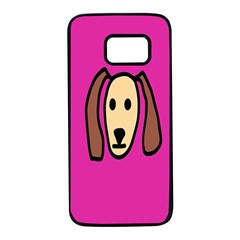 Face Dog Samsung Galaxy S7 Black Seamless Case