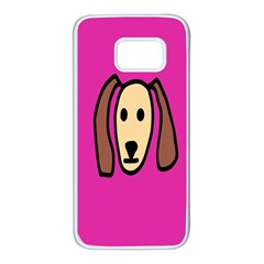 Face Dog Samsung Galaxy S7 White Seamless Case