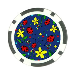 Ladybugs   Blue Poker Chip Card Guards (10 Pack)