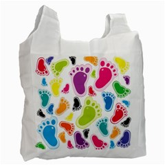 Foot Soles Of The Feet Recycle Bag (two Side)