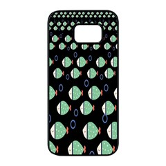 Fish Samsung Galaxy S7 Edge Black Seamless Case