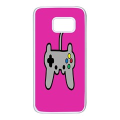 Game Pink Samsung Galaxy S7 White Seamless Case