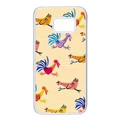 Chicken Samsung Galaxy S7 White Seamless Case