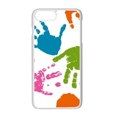 Hand Apple Iphone 7 Plus White Seamless Case