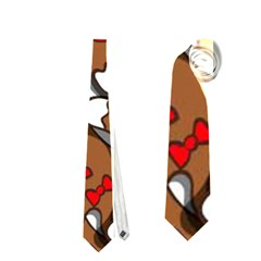 Christmas Candy Seamless Pattern Vectors Neckties (two Side)