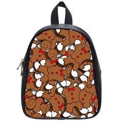 Christmas Candy Seamless Pattern Vectors School Bags (small)