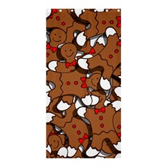 Christmas Candy Seamless Pattern Vectors Shower Curtain 36  X 72  (stall)