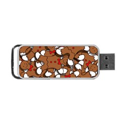 Christmas Candy Seamless Pattern Vectors Portable Usb Flash (one Side)