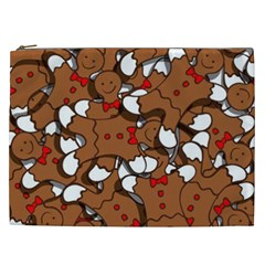 Christmas Candy Seamless Pattern Vectors Cosmetic Bag (xxl)
