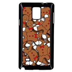 Christmas Candy Seamless Pattern Vectors Samsung Galaxy Note 4 Case (black)