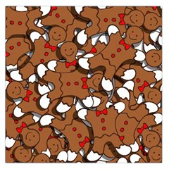 Christmas Candy Seamless Pattern Vectors Large Satin Scarf (square)