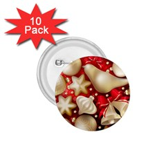 Christmas Baubles Seamless Pattern Vector Material 1 75  Buttons (10 Pack)