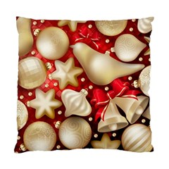 Christmas Baubles Seamless Pattern Vector Material Standard Cushion Case (one Side)