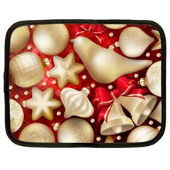 Christmas Baubles Seamless Pattern Vector Material Netbook Case (xl)