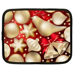 Christmas Baubles Seamless Pattern Vector Material Netbook Case (xxl)