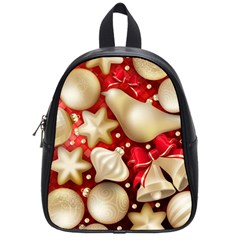 Christmas Baubles Seamless Pattern Vector Material School Bags (small)