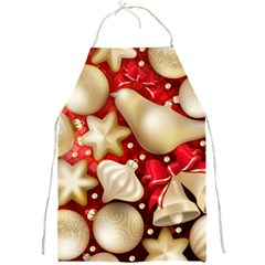 Christmas Baubles Seamless Pattern Vector Material Full Print Aprons