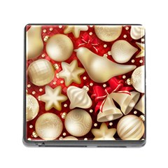 Christmas Baubles Seamless Pattern Vector Material Memory Card Reader (square)
