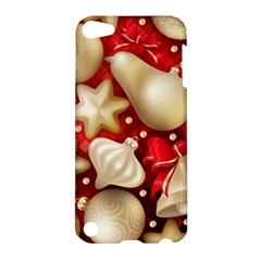 Christmas Baubles Seamless Pattern Vector Material Apple Ipod Touch 5 Hardshell Case