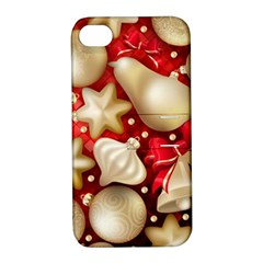 Christmas Baubles Seamless Pattern Vector Material Apple Iphone 4/4s Hardshell Case With Stand