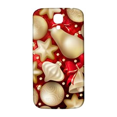 Christmas Baubles Seamless Pattern Vector Material Samsung Galaxy S4 I9500/i9505  Hardshell Back Case