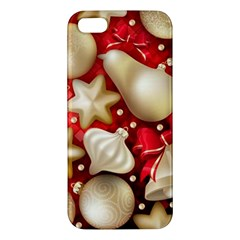 Christmas Baubles Seamless Pattern Vector Material Iphone 5s/ Se Premium Hardshell Case