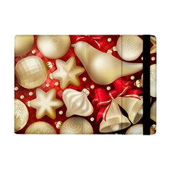 Christmas Baubles Seamless Pattern Vector Material Ipad Mini 2 Flip Cases