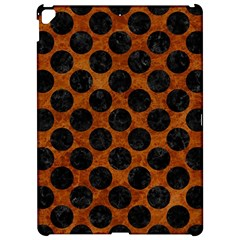 Circles2 Black Marble & Brown Marble (r) Apple Ipad Pro 12 9   Hardshell Case