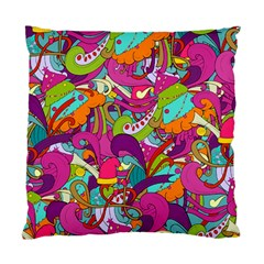 Christmas Elements With Doodle Seamless Pattern Vector Standard Cushion Case (two Sides)
