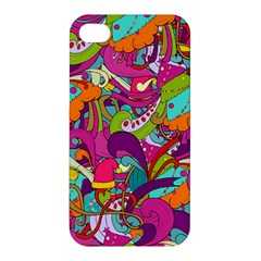 Christmas Elements With Doodle Seamless Pattern Vector Apple Iphone 4/4s Hardshell Case
