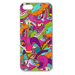 Christmas Elements With Doodle Seamless Pattern Vector Apple Seamless Iphone 5 Case (clear)