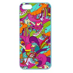 Christmas Elements With Doodle Seamless Pattern Vector Apple Seamless Iphone 5 Case (color)
