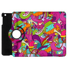 Christmas Elements With Doodle Seamless Pattern Vector Apple Ipad Mini Flip 360 Case