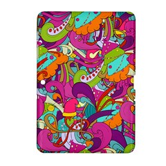 Christmas Elements With Doodle Seamless Pattern Vector Samsung Galaxy Tab 2 (10 1 ) P5100 Hardshell Case