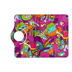 Christmas Elements With Doodle Seamless Pattern Vector Kindle Fire Hd (2013) Flip 360 Case