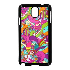 Christmas Elements With Doodle Seamless Pattern Vector Samsung Galaxy Note 3 Neo Hardshell Case (black)