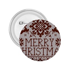 Christmas Elements With Knitted Pattern Vector 2 25  Buttons