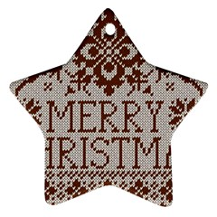 Christmas Elements With Knitted Pattern Vector Ornament (star)