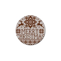 Christmas Elements With Knitted Pattern Vector Golf Ball Marker