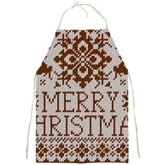 Christmas Elements With Knitted Pattern Vector Full Print Aprons