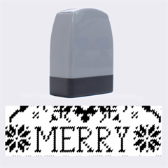 Christmas Elements With Knitted Pattern Vector Name Stamps