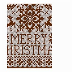 Christmas Elements With Knitted Pattern Vector Small Garden Flag (two Sides)