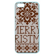 Christmas Elements With Knitted Pattern Vector Apple Seamless Iphone 5 Case (color)