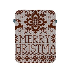 Christmas Elements With Knitted Pattern Vector Apple Ipad 2/3/4 Protective Soft Cases