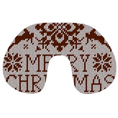 Christmas Elements With Knitted Pattern Vector Travel Neck Pillows