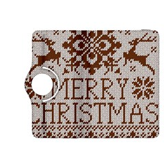 Christmas Elements With Knitted Pattern Vector Kindle Fire Hdx 8 9  Flip 360 Case