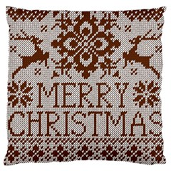 Christmas Elements With Knitted Pattern Vector Standard Flano Cushion Case (two Sides)