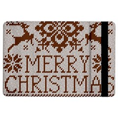Christmas Elements With Knitted Pattern Vector Ipad Air 2 Flip