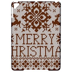 Christmas Elements With Knitted Pattern Vector Apple iPad Pro 9.7   Hardshell Case