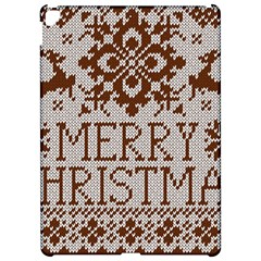 Christmas Elements With Knitted Pattern Vector Apple iPad Pro 12.9   Hardshell Case